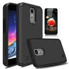 For LG Aristo 2/2 Plus/Tribute Dynasty Armor Case Cover With Screen Protector
