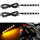 2x 4x 5050 SMD LED Turn Signals Car/Motorcycle License Plate Flexible LED Strip