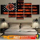 Chicago Bears Retro American Flag 5pcs Painting Canvas Wall Art Home Decorative on eBay