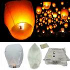 50 / 100 Sky Lanterns Chinese Paper Candle Lamp Fly for Wish Party Wedding