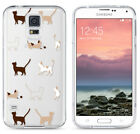 ULAK Patterned Crystal Clear Hybrid Shockproof Bumper Case for Galaxy S5 i9600