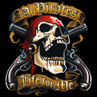 A Pirates Life For Me Skeleton Skull Bandana Guns Revolvers T-Shirt Tee