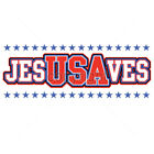 Jesus Saves USA United States Of America Funny Patriotic T-Shirt Tee image