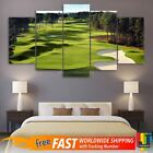 Golf Course Green Trees 5 PCS Modern Wall Art Printing Canvas Hanging Home Decor