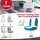 "Deluxe Folding Boat Seat with 13"" Fixed Pedestal"