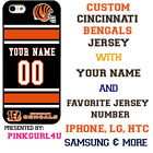 CINCINNATI BENGALS NFL PHONE CASE COVER FITS iPHONE X 8 PLUS 8 7 6 etc NAME