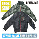 Tommy Hilfiger SZ 2T NWT REVERSIBLE Bomber Jacket Grey & Camo Free Ship MSRP $79