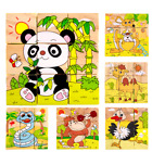 Children Cartoon 6 Sides Puzzle Block Educational Wooden Kids Toy Gift WITH TRAY