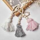 Multi Colors Tassel Wooden Beads Car Home Wall Hanging Ornament Room Decor