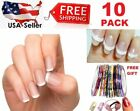 10 Sheets (480pc) French Manicure Nail Guide Sticker Art Tips Stencil w/ free gi