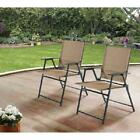 Set of 2 Sling Folding Chair for Outdoor, Patio, Pool, Deck and Garden Furniture