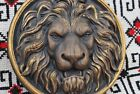Wood Carved Lion Head Round Rosette 100 NATURAL MATERIAL