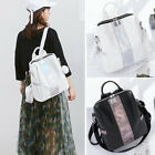 Convertible Holographic Faux Leather Backpack Rucksack Shoulder Bag Purse Hobo