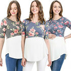 Pregnant Women Maternity Clothes Nursing Tops Breastfeeding Splice Blouse Shirt