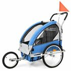 Kid's Bike Jogger Multifunctional Bicycle Child Carrier Trailer Stroller 2 in 1