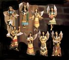 Native American Indian Decor One of a kind Southwest Christmas Tree Angel Ornaments (8)