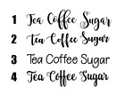 Tea Coffee Sugar Jar Cannister Vinyl Stickers Labels Only Colours Inc Rose Gold