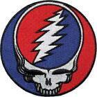 Grateful Dead Embroidered Iron On Patch - Steal Your Face Lightning Bolt 164