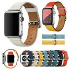 Genuine Leather iWatch Strap Wrist Band For Apple Watch 1/2/3/4 38/40/42/44mm image