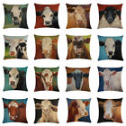 Farm Cow Pattern Soft Throw Pillow Covers Cushion Covers Decorative Pillowcase
