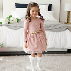 Toddler Baby Girls Kids Winter Long Sleeve Princess Dress Outfits Clothes 1-9Y