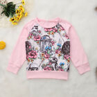 UK Toddler Baby Girl Cute Star Wars Tops T-shirt Sweatshirt Autumn Clothes 6M-4Y