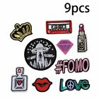 Embroidery Patches Outer Space Planet Pattern Sew On Patches Iron on 20pcs/Set