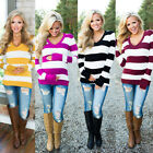 Women's Maternity Long Sleeve Strip Printed T-shirt Funny Pregnant Tops Blouse