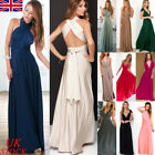 Uk Womens Formal Party Maxi Long Dress Evening Prom Gown Bridesmaid Wedding