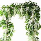 7ft Artificial Wisteria Vine Garland Plants Foliage Outdoor/home Trailing Flower