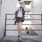 Anime Game Girls' Frontline FN57 Cosplay White Wig Fashion Coat short skirt Set