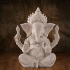 39D7 1354 Buddha Elephant Statue Sculptures Sandstone Figurine Garden Home Decor