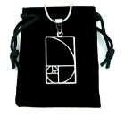 Fibonacci Spiral Necklace, Stainless Steel Golden Ratio Charm Pendant Jewelry