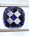 Lab Created Synthetic Blue Sapphire Cushion Checkerboard Loose Stone (3x3-16x16)