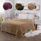 Oversize Soft Faux Fur Fleece Felts Mink Warm Throw Sofa Bed Blanket Single King