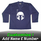 Hockey Jersey with Boba Fett Star Wars with Your Name  Number on the back