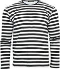 Run & Fly Black and White Striped Long Sleeved Stripey T-Shirt 60s Retro Indie