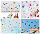 Fish Sea Themed Wall Stickers For Bathroom Decoration