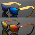 BAMBOO SUNGLASSES Wooden Mens Womens Retro Vintage Wood Mirror Polarized Glasses