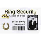 """Ring Security Photo ID Card with Clip or Holder and """"Security"""" lanyard. Free P&P"""