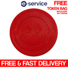 EMBOSSED PLASTIC TOKENS RED SMILE SMILEY FACE SCHOOL PARTY EVENT REWARD