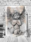 ANGEL WINGS CHERUB SHABBY CHIC FRAMED ANGEL CANVAS PICTURE ARTWORK #298 POSTER