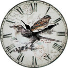 Birds Pastorable Wall Clock Home Living Room Kitchen Bar Decor