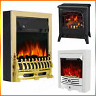 Electric Fireplace 1.8 / 2KW LED Fire Burning Effect Heater Flame Stove Surround