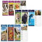 Slimline 2019 Hanging Calendar Daily Planner Dates Monthly Pets Nature Cars