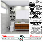 New Toilet Rules Quote Wall Stickers Vinyl Decal Removable Home Decor Bathroom