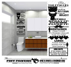 Toilet Rules Quote Wall Stickers Vinyl Decal Removable Home Decor Bathroom