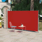 Patio Terrace Side Awning 160x300 / 180x300 cm UV-Resistant Retractable Red NEW