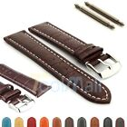 Two-piece Men's Genuine Leather Watch Strap Band Croco RM SS. Buckle Spring Bars image