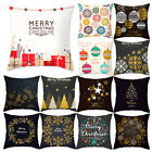 Внешний вид -  Xmas 2018 Pillow Case Sofa Assorted  Cushion Cover Merry Christmas Decor Gift